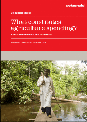 What Constitutes Agriculture Spending? Areas of Consensus and Contention