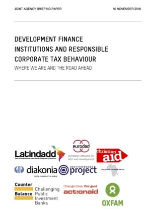 Development Finance Institutions and Responsible Corporate Tax Behaviour