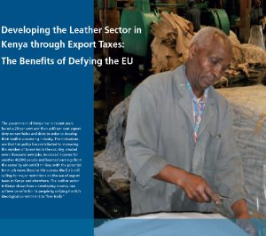 Developing the Leather Sector in Kenya through Export Taxes: The Benefits of Defying the EU