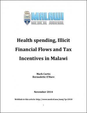 Health Spending, Illicit Financial Flows and Tax Incentives in Malawi