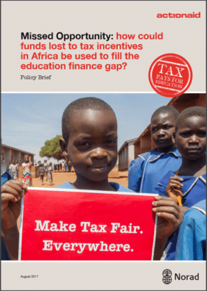 Missed Opportunity: How could funds lost to tax incentives in Africa be used to fill the education finance gap?