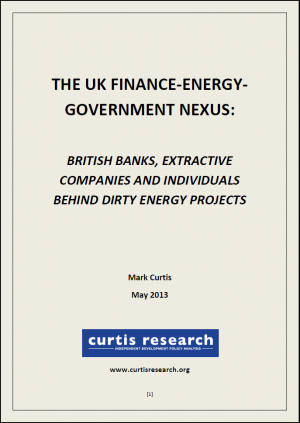 The UK Energy-Finance-Government Nexus