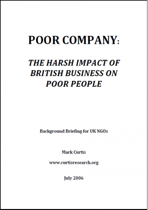 Poor Company: The Harsh Impact of British Companies on Poor People