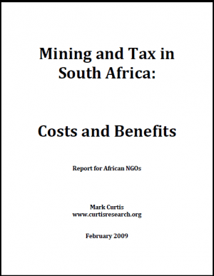 Mining and Tax in South Africa: Costs and Benefits