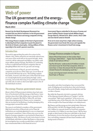 Web of Power: The UK Government and the Energy-Finance Complex Fuelling Climate Change