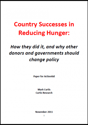 Country Successes in Reducing Hunger: How They Did It and Why Other Donors and Governments Should Change Policy