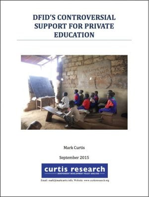 DFID's Controversial Support for Private Education