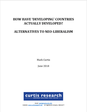 How Have 'Developing' Countries Actually Developed? Alternatives to Neoliberalism