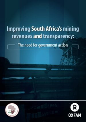 Improving South Africa's Mining Revenues and Transparency