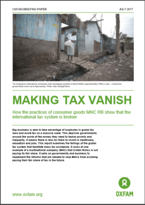 Making Tax Vanish: A tax investigation into RB